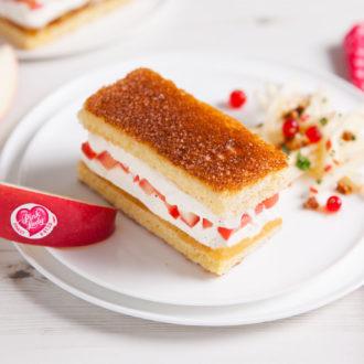Sandwich glacé, brioche et pommes caramelisees Pink Lady